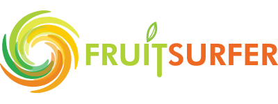 logo fruit surfer